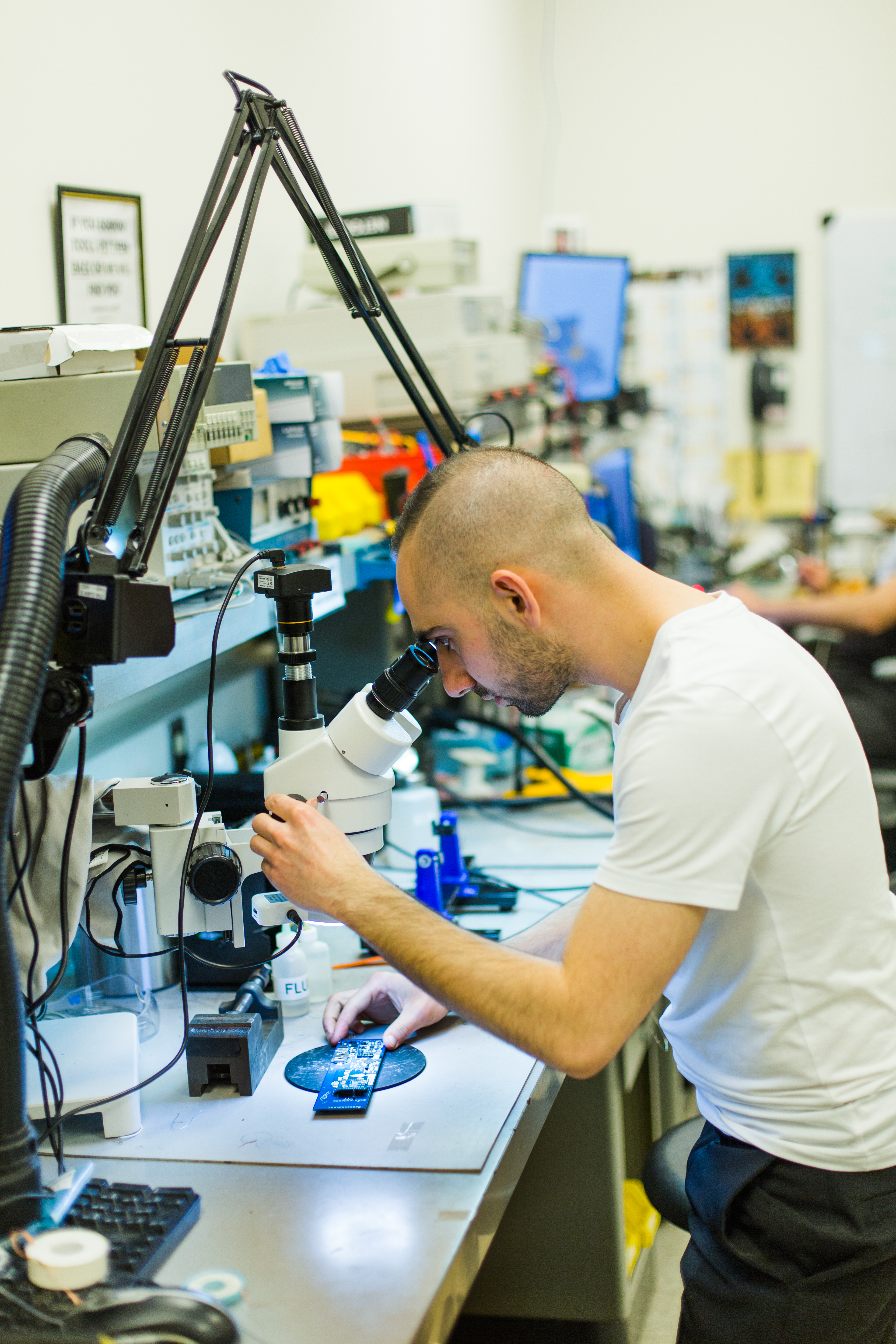 EECE Student Working in a lab